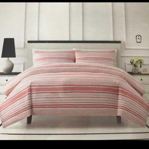 ISO kate spade capri pink stripe comforter bedding